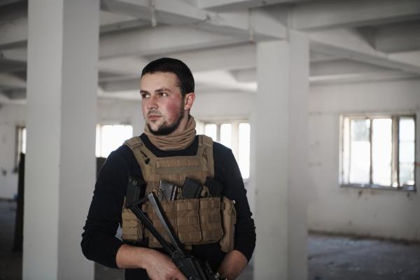 special agent soldier portrait wearing