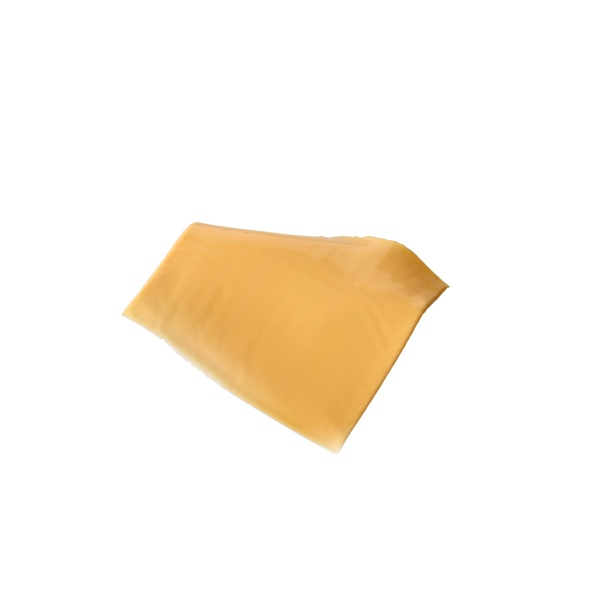 square piece of cheddar cheese isolated