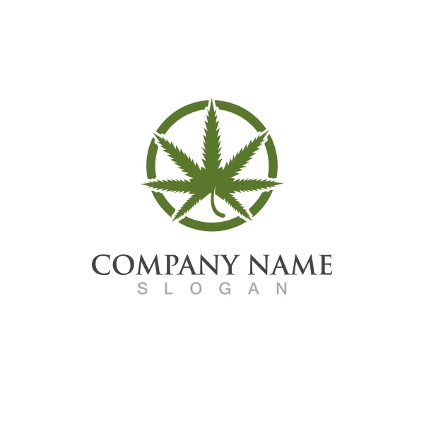leaf cannabis logo vector illustration icon