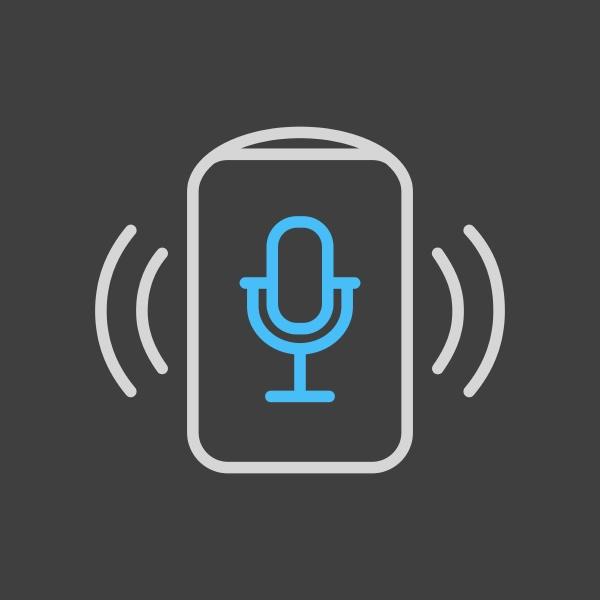 voice assistant concept icon on dark