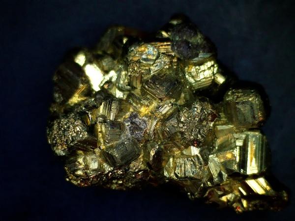 pyrite mineral under a microscope