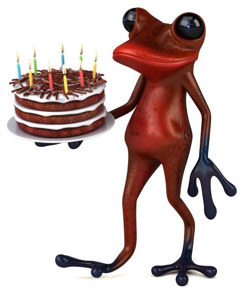 fun red frog 3d