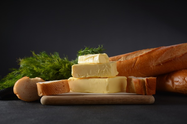 butter slices of butter with