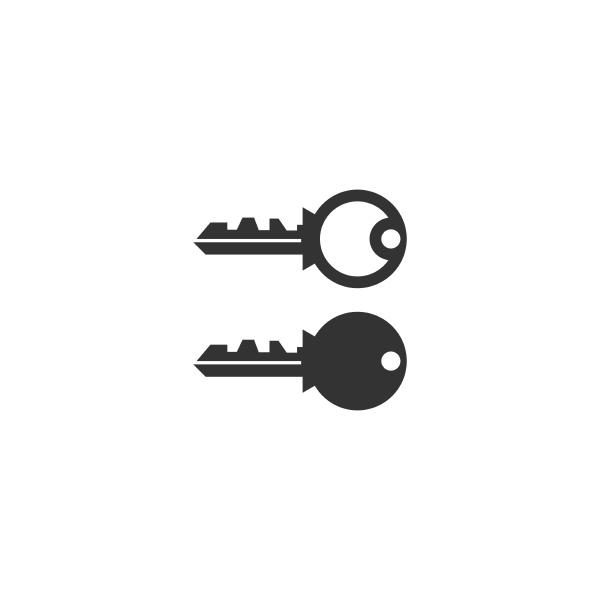 simple key logo icon design vector