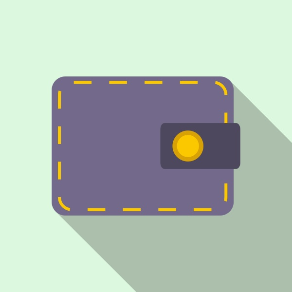 wallet icon flat style