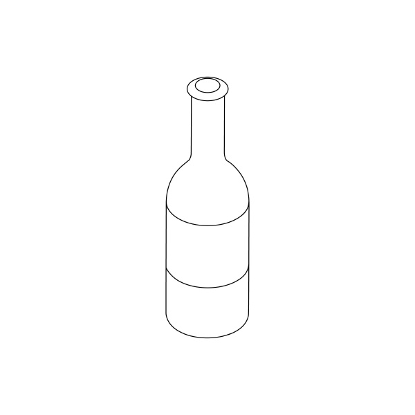 beer bottle icon isometric 3d