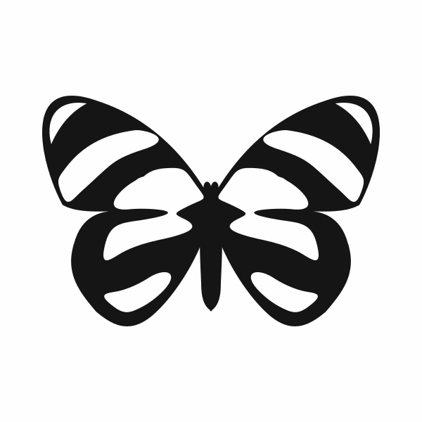 butterfly icon simple style