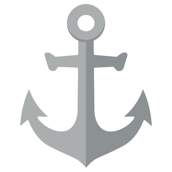 anchor vintage flat icon isolated