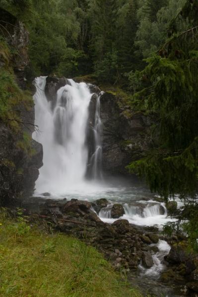 waterfall near urnes norway