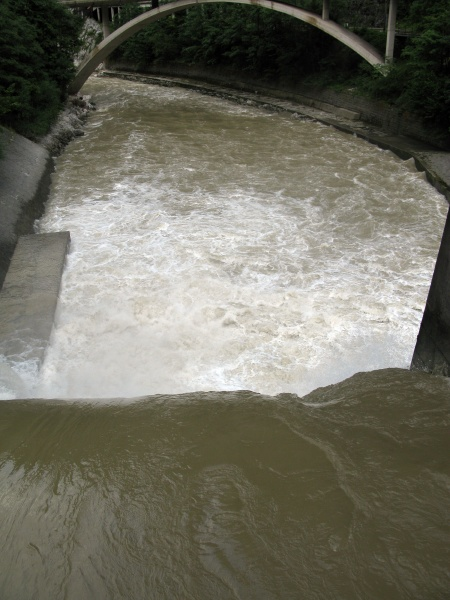 regulated water stream for flood control