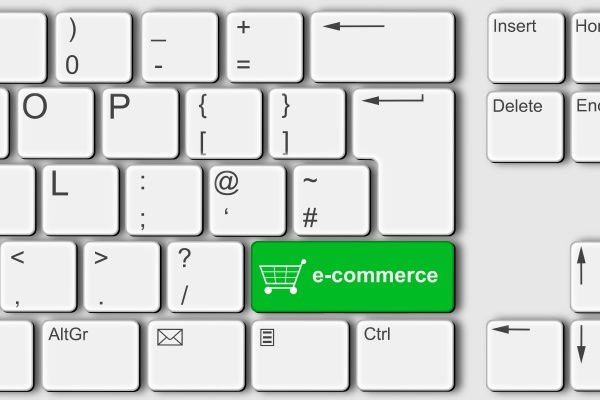 e commerce concept pc computer keyboard