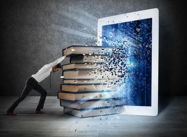 reading books with an e book