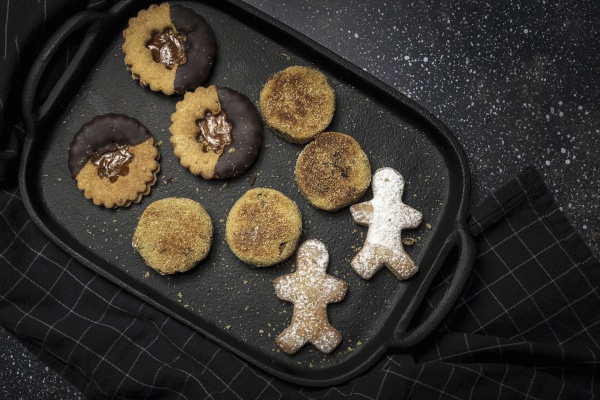 homemade cookies placed on tray