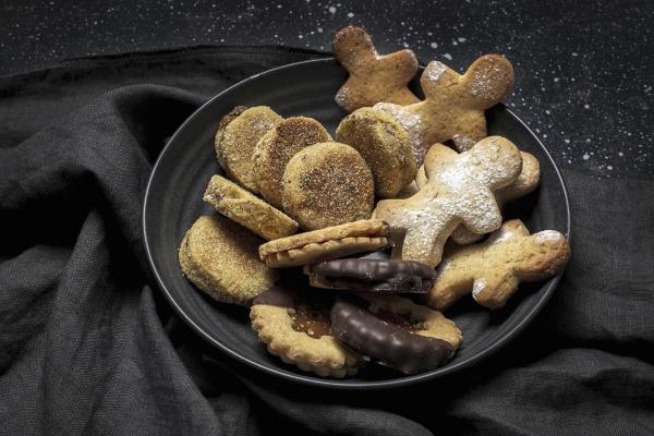 homemade cookies on plate