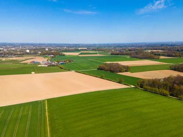 agricultural fields countryside a