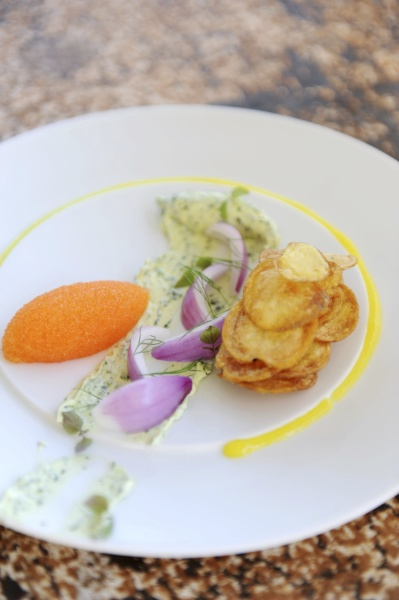 carrot mousse with herb butter red