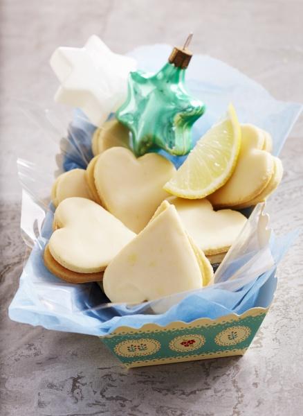 heart shaped lemon cookies for christmas