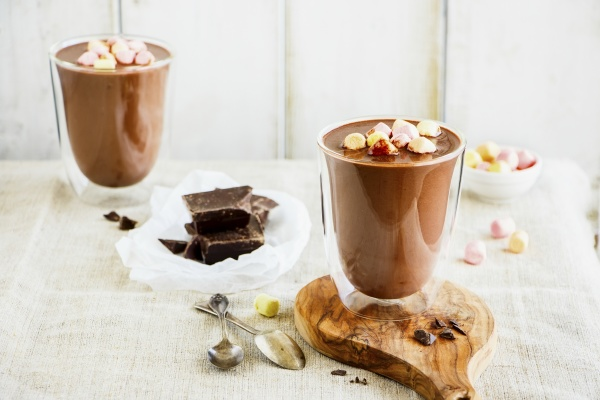 composition with hot chocolate and ingredients