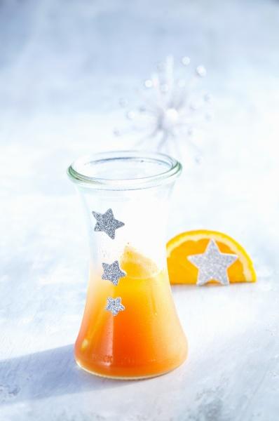 campari orange in a festively decorated