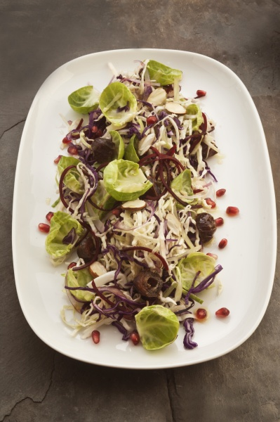 winter coleslaw with brussels sprouts