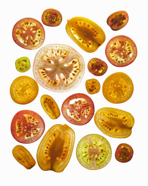 various tomato slices