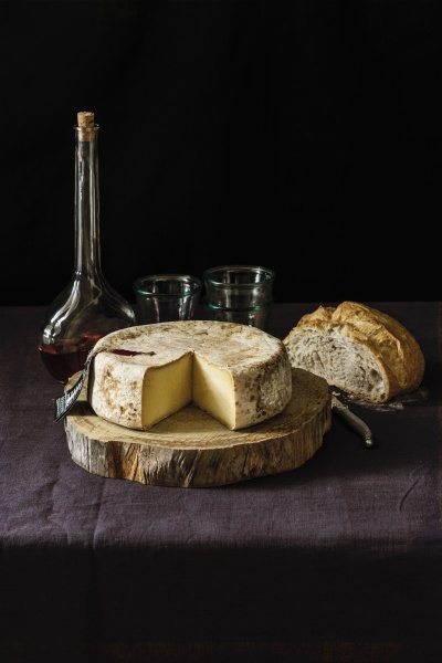 a wheel of unpasteurized spanish cheese