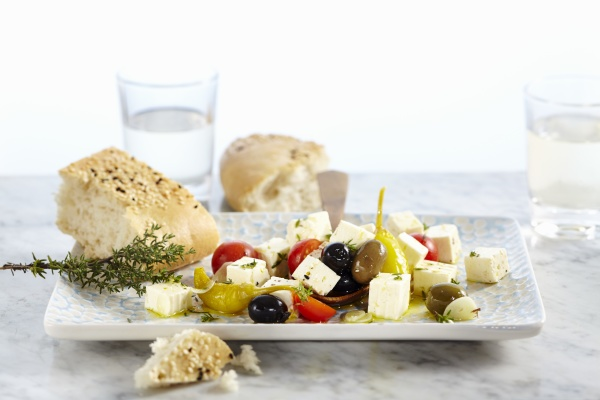 feta cheese preserved in olive oil