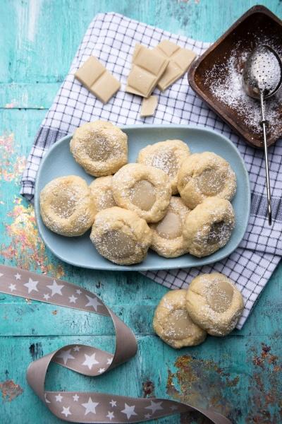 vegan vanilla cookies with white rice