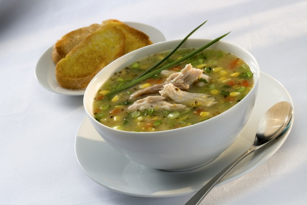 a bowl of chicken and vegetable