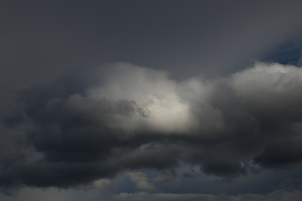 storm clouds in the spanish sky