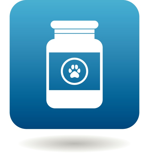 veterinary medicament bottle icon simple style