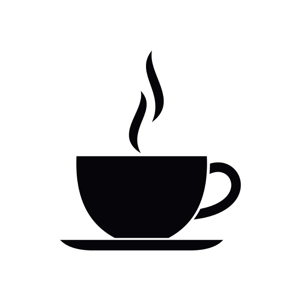 cup of hot drink icon simple