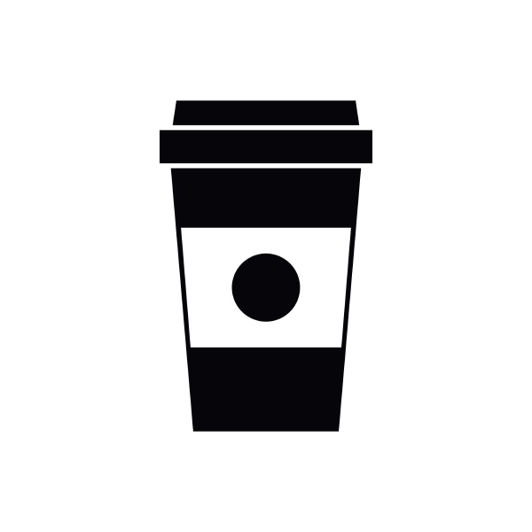 paper cup of coffee icon simple
