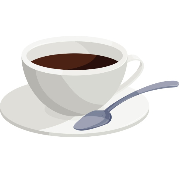 coffee cup icon cartoon style