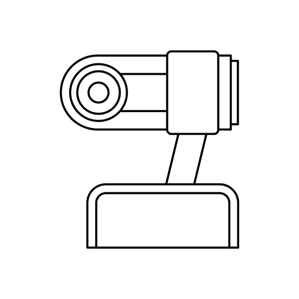 webcam icon in outline style