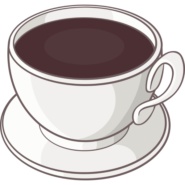 cup of coffee icon in cartoon