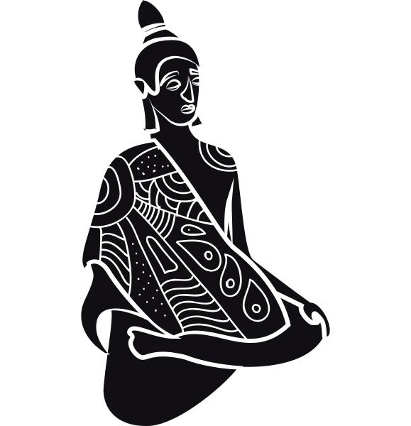 buddha statue icon simple style