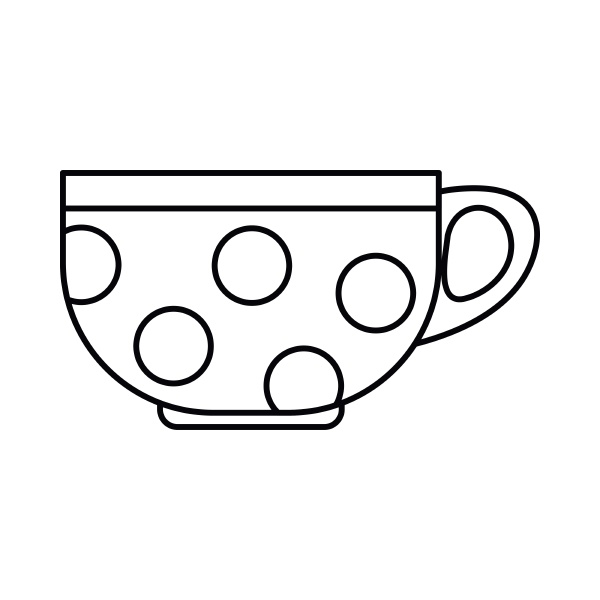 cup icon outline style