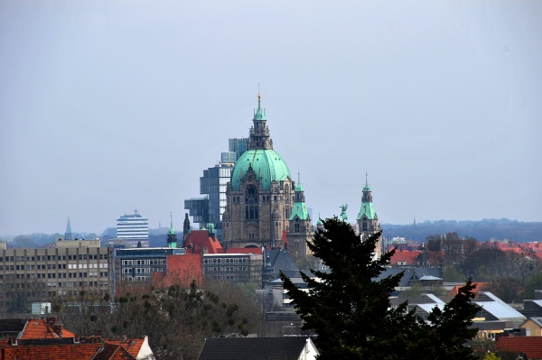 hannover with new town hall