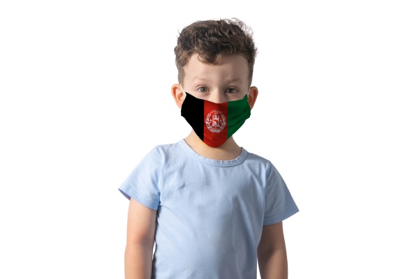 respirator with flag of argentina white