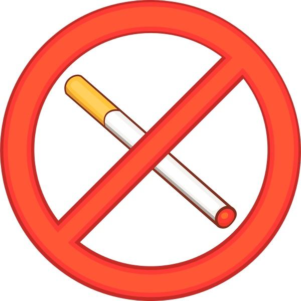 smoking is prohibited icon cartoon style