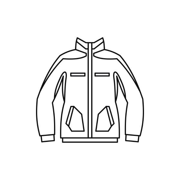 men winter jacket icon outline style