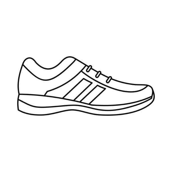 men sneakers icon outline style
