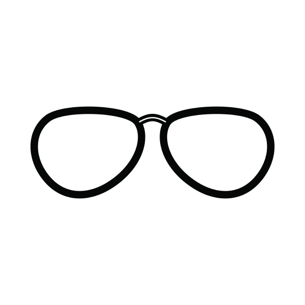 glasses icon outline style