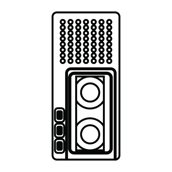dictaphone icon outline style