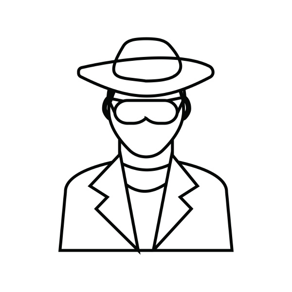 detective icon outline style