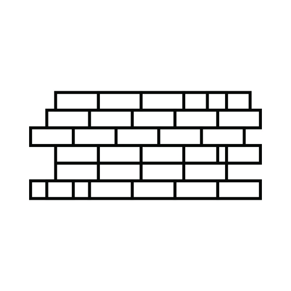 brick wall icon outline style
