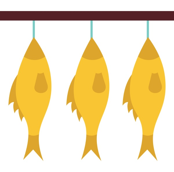 stockfish hanging on a rope icon