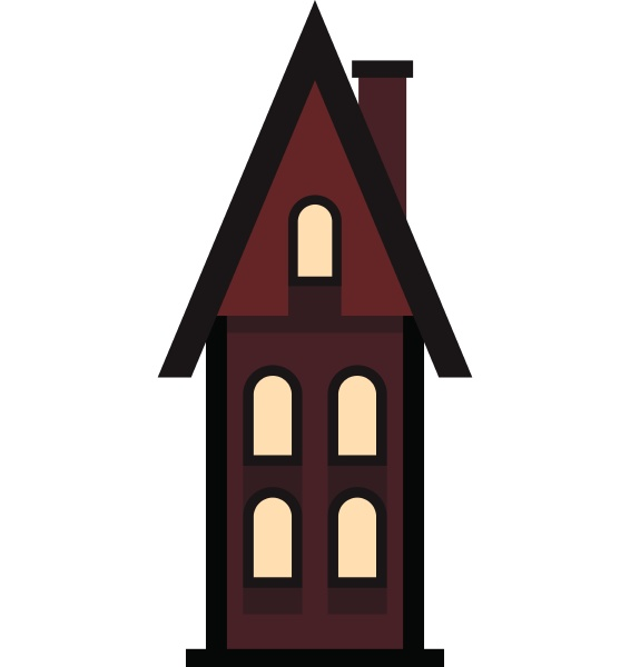 brown two storey house with chimney