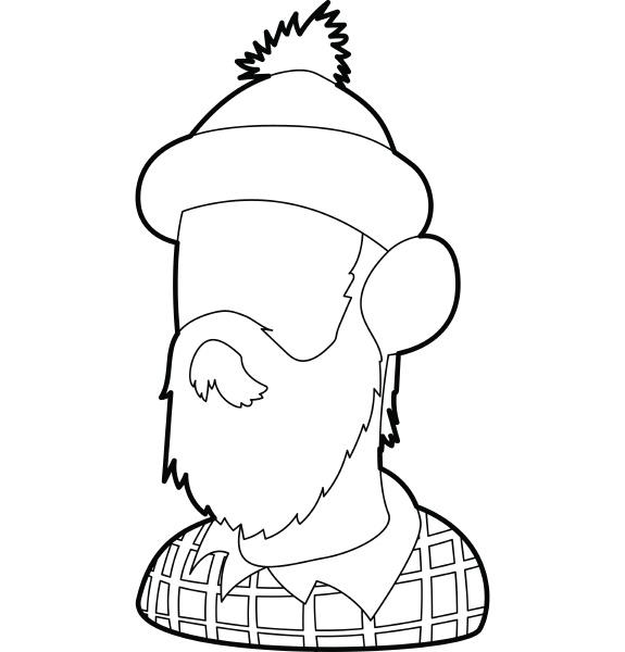 lumberjack icon outline style